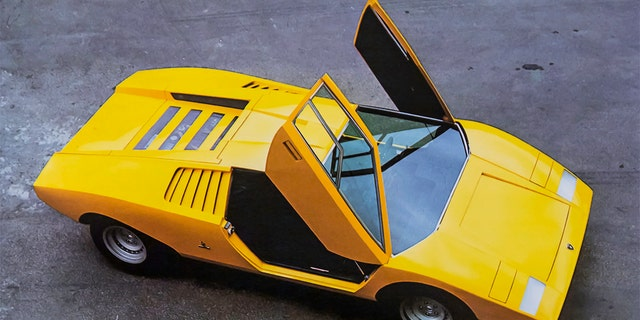 The Lamborghini Countach made its debut as a concept vehicle in 1971.