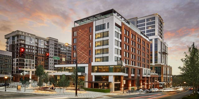 The AC Hotel Greenville Downtown, that's within walking distance of Falls Park on the Reedy River, the Swamp Rabbit Trail, and the Shoeless Joe Jackson Museum, among many other local draws.