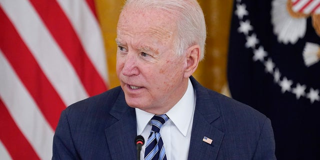 President Joe Biden speaks during a meeting about cybersecurity, in the East Room of the White House, Wednesday, Aug. 25, 2021, in Washington. Biden will deliver an address Thursday about the COVID-19 pandemic. (AP Photo/Evan Vucci)