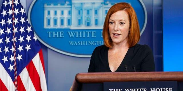 White House press secretary Jen Psaki speaks during the daily briefing at the White House in Washington, Venerdì, Ago. 27, 2021. (AP Photo / Susan Walsh)