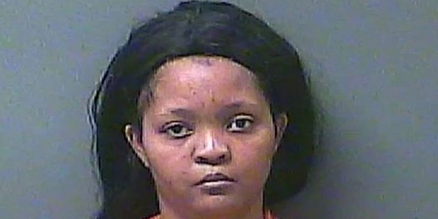 Thessalonica Allen, 34, is accused of fatally shooting her husband in Indiana. (La Porte County, Indiana, Sheriff's Office)