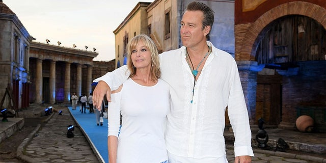 John Corbett revealed on Tuesday that after two decades of being together, they elected to finally tie the knot last year 'around Christmastime.' The two are pictured here in 2017.