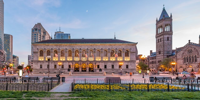 The historic architecture of the Boston Public Library in Boston, Massachusetts, USA. (iStock)