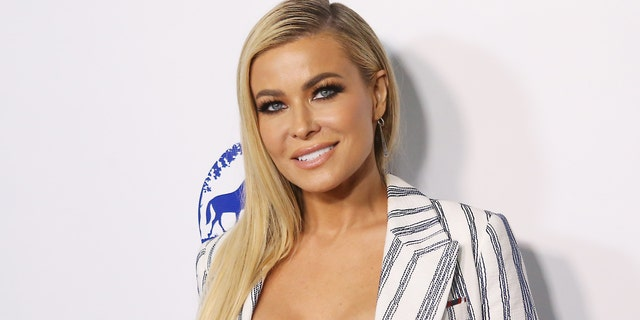 Carmen Electra posed in a small pink bikini for an Instagram video. (Getty Images)