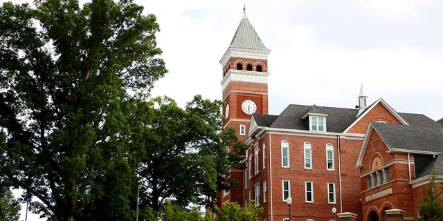 A view of Tillman Hall on the campus of Clemson University on June 10, 2020, in Clemson, S.C.