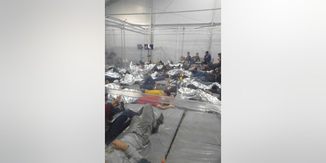 Images obtained by Fox News show conditions in the migrant center in Donna, Texas.