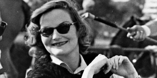 In this Feb. 24, 1950 photo, heiress Doris Duke attends a polo match in Cairo, Egypt.