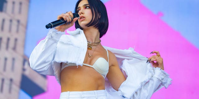 Dua Lipa performs at the Osheaga Music and Art Festival at Parc Jean-Drapeau on August 5, 2018 in Montreal, Canada.