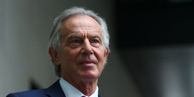 Former British Prime Minister Tony Blair is seen in London, June 6, 2021. (Getty Images)