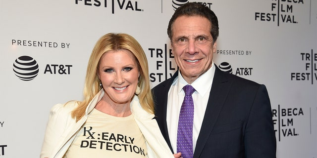 Sandra Lee and New York Governor Andrew Cuomo attend the HBO Documentary Film 'RX: Early Detection A Cancer Journey With Sandra Lee' during The Tribeca Film Festival at SVA Theater on April 26, 2018 in New York City.