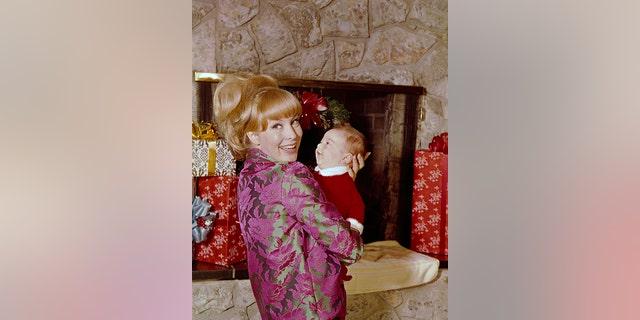 Barbara Eden with son Matthew Michael Ansara.