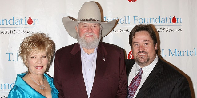 Musician Charlie Daniels (C) with son Charlie Daniels Jr. and wife Hazel attend the T.J. Martell Foundation 35th Annual Awards Gala at Marriot Marquis on October 27, 2010 in New York City.