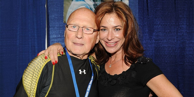 James Tolkan and Claudia Wells (R) from 'Back to the Future' attend the 2013 Rhode Island Comic Con at Rhode Island Convention Center in Providence, Rhode Island.