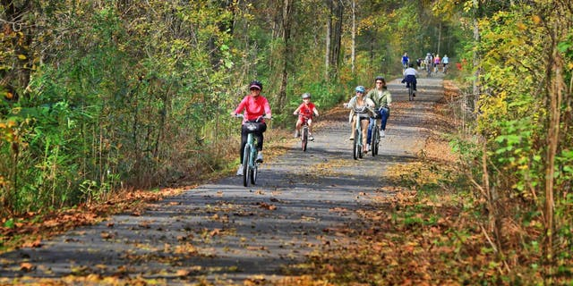 Greenville has the Prisma Health Swamp Rabbit Trail, a 22-mile beginner-friendly bike trail that you can take to five nearby state parks.