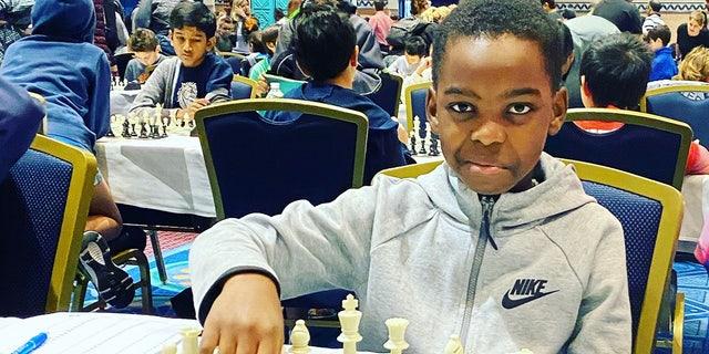 """10-year-old chess prodigy Tanitoluwa """"Tani"""" Adewumi."""