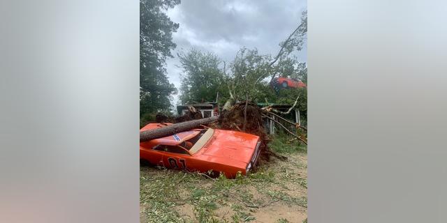 Actor-singer John Schneider's property in Louisiana was damaged by Hurricane Ida on Sunday night.