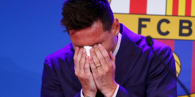Messi in tears at press conference, says 'I wanted to stay' at Barcelona    Fox News