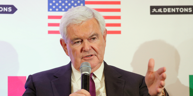 WASHINGTON, DC - OCTOBER 11: Hon. Newt Gingrich speaks about Trump, Trudeau, and Nieto regarding NAFTA Negotiations at Dentons NAFTA 2.0 Summit on October 11, 2017 in Washington, DC. (Photo by Paul Morigi/Getty Images for Dentons)