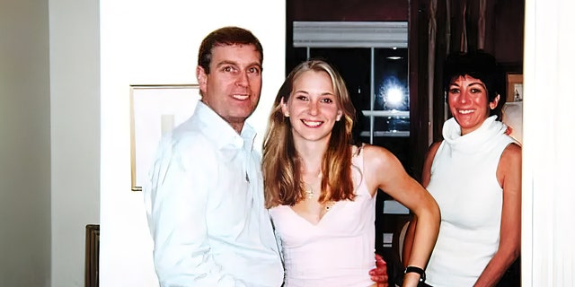 Photo from 2001 that was included in court files shows Prince Andrew with his arm around the waist of 17-year-old Virginia Giuffre who says Jeffrey Epstein paid her to have sex with the prince. (Florida Southern District Court)