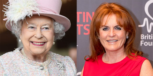 Sarah Ferguson (R) said Queen Elizabeth II (L) was more of a mother to her than her own.