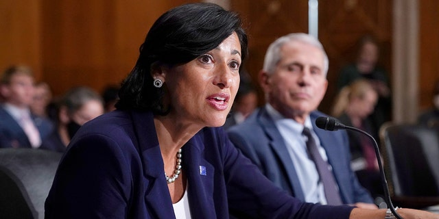 Dr. Rochelle Walensky, director of the Centers for Disease Control and Prevention (CDC), and top infectious disease expert Dr. Anthony Fauci, testify before the Senate Health, Education, Labor, and Pensions Committee on Capitol Hill in Washington, Tuesday, July 20, 2021.