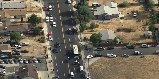 Two San Bernardino police officers were injured Wednesday, a day after a sheriff's deputy was attacked while trying to pull over a vehicle nearby.