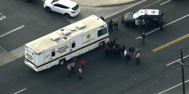 Two San Bernardino police officers were injred Wednesday in a shooting that left another person dead. The incident came a day after a sheriff's deputy was attacked while trying to pull over a vehicle nearby.