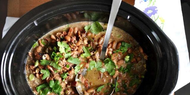 Slow-Cooker-Borracho-Beans-Recipe. (Courtesy of Kate Ramos)