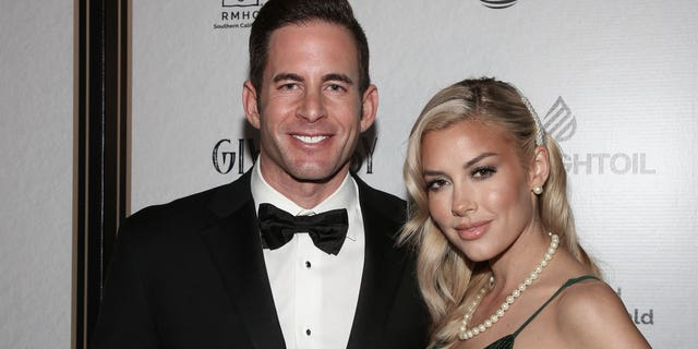 Reality TV Personalities Tarek El Moussa (L) and Heather Rae Young (R) attend the Give Easy event hosted by Ronald McDonald House Los Angeles at Avalon Hollywood on November 07, 2019 En los angeles, California.