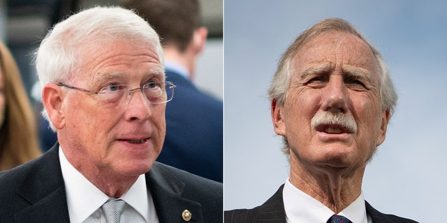 Sens. Roger Wicker, R-Miss., and Angus King, I-Maine, (R), both tested positive for COVID-19 on Aug. 19, 2021.