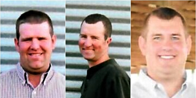 Three Ohio brothers, all in their 30s, have died after getting stuck in a manure pit on their farm, according to authorities. (Credit: Hogenkamp Funeral Homes)