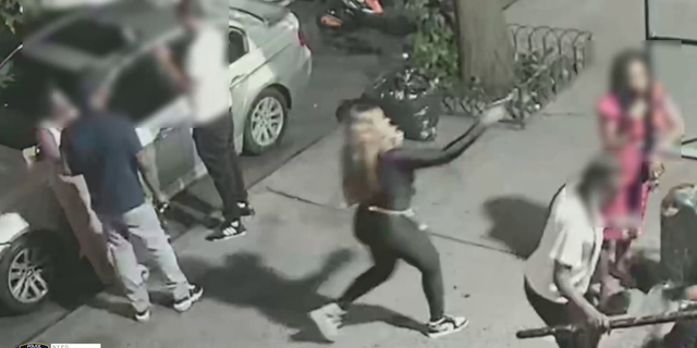 The video shows the assassination-style slaying of Delia Johnson.