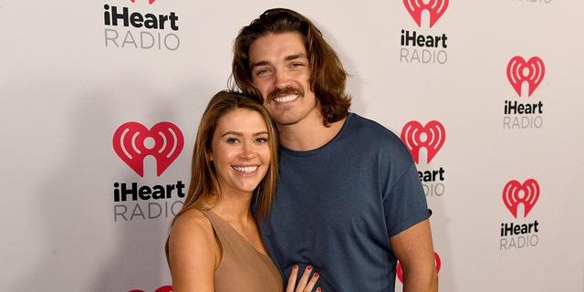 (L-R) Caelynn Miller-Keyes and Dean Unglert are still dating.