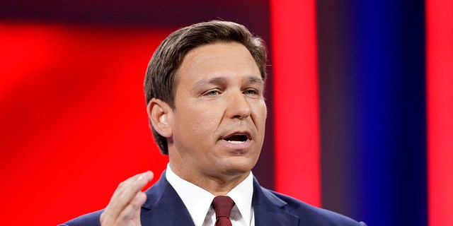 """Gov. Ron DeSantis' office objected to an Associated Press article, blasting it as """"cheap political innuendo"""" against the Florida Republican. (REUTERS/Joe Skipper)"""