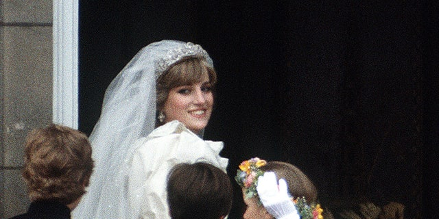 A piece of cake from Princess Diana and Prince Charles' 1981 wedding will be up for auction estimated to go for up to $350, according to Dominic Winter Auctioneers.(Photo by Terry Fincher/Princess Diana Archive/Getty Images)