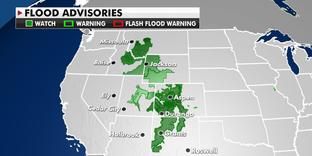 Flood advisories currently in effect. (Fox News)