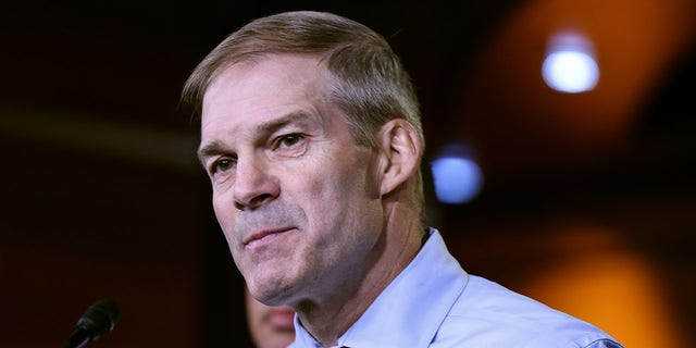 WASHINGTON, DC - JULY 21: Rep. Jim Jordan (R-OH) speaks at a news conference on July 21, 2021 in Washington, DC. (Photo by Anna Moneymaker/Getty Images)