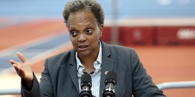 Chicago Mayor Lori Lightfoot proposed her 2022 budget Monday, which boost funding for law enforcement. (Terrence Antonio James/Chicago Tribune)