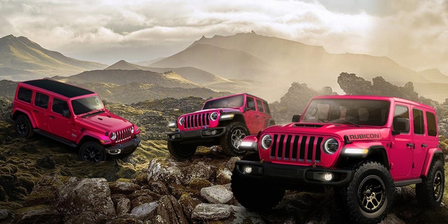 All Jeep Wranglers will be available in Tuscadero Pink for a limited time.