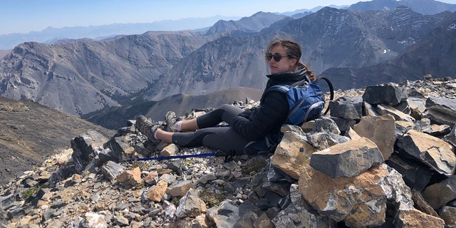 """Morell, pictured during a different hike, was described as an """"avid and experienced hiker"""" with a lifetime of experience taking backcountry trips with her family and by herself."""