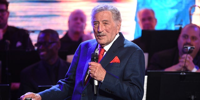 Tony Bennett performs at the Statue of Liberty Museum opening celebration on May 15, 2019, in New York. Bennett has canceled his fall and winter 2021 tour dates. The legendary crooner is pulling out of concerts in New York, Maryland, Connecticut, Arizona, Oklahoma and Canada.