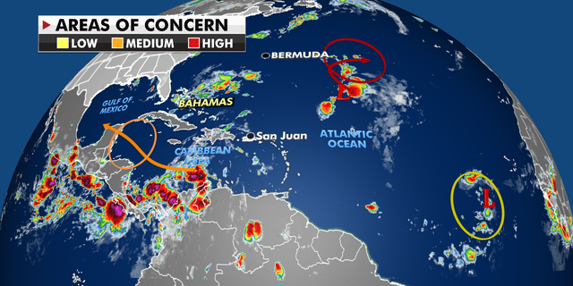 Current weather activity in the tropics.