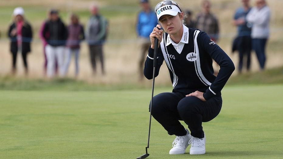 Korda struggles, Hall shares lead at Women's British Open