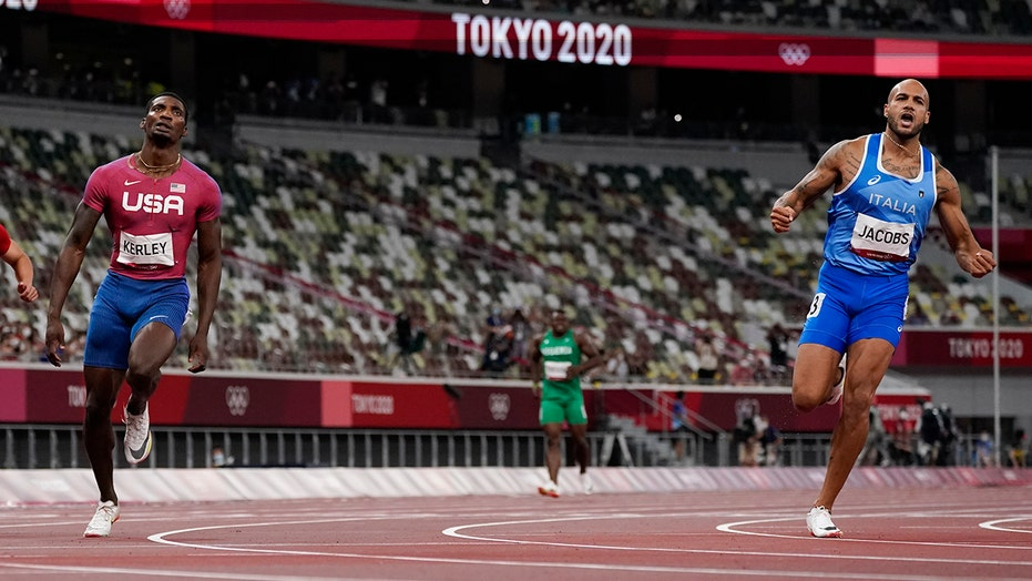Italian Jacobs takes surprising gold in Olympic 100