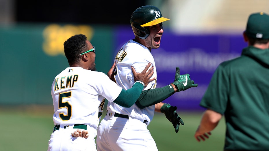 Olson hits 2-run, walk-off double, A's beat Padres 5-4 in 10