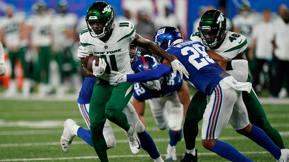 Jets' Denzel Mims earns highlight play of night: 'play angry'