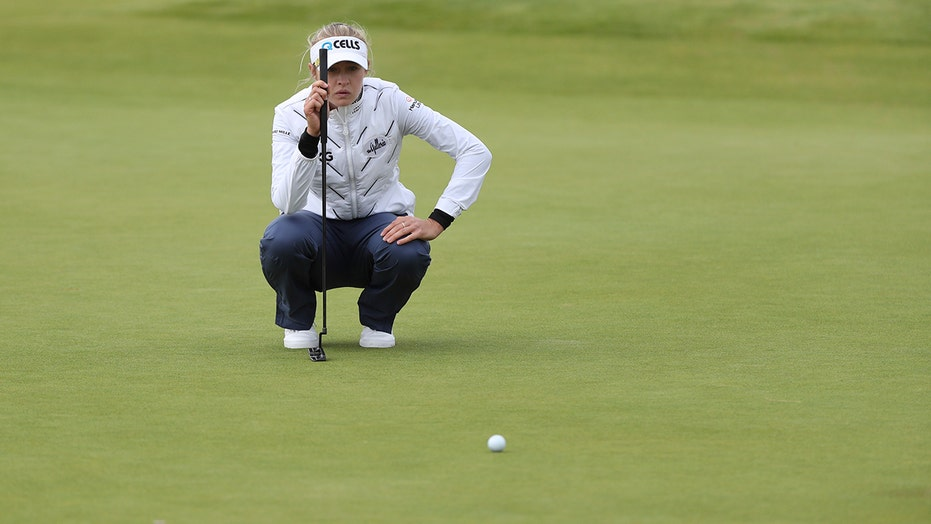 Olympic champ Korda shares lead at Women's British Open