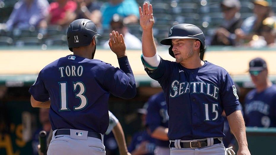 Torrens' 2-run single helps Seattle sweep stumbling A's