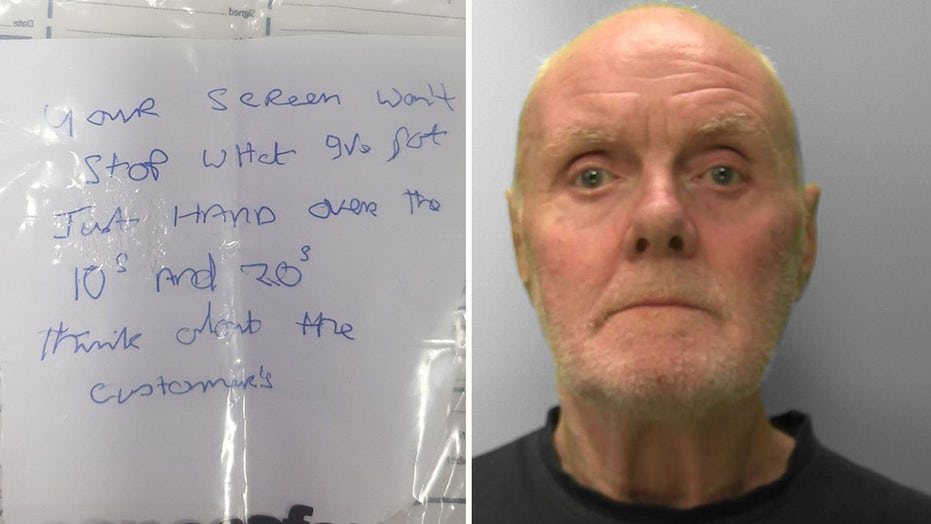 Bank robbery foiled when teller can't read stickup note