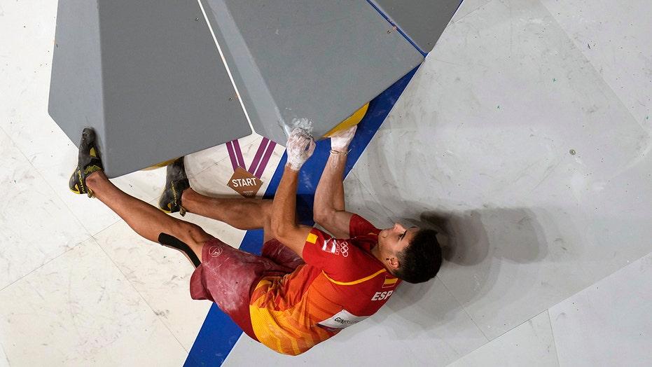 Spanish teenager Ginés Lopéz wins 1st Olympic climbing gold